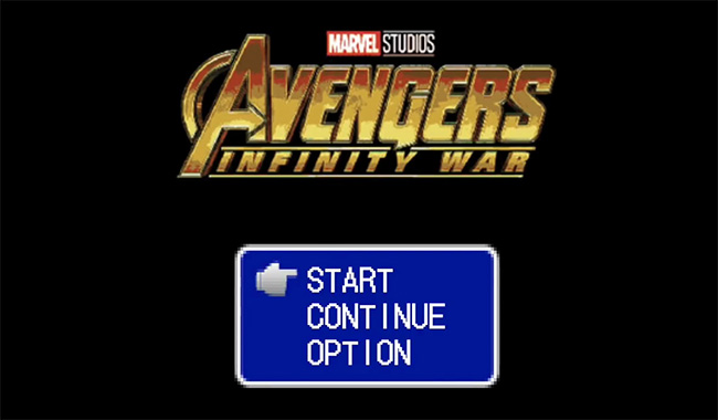 Trailer Estilo JRPG 16 bits de Vingadores: Guerra Infinita.